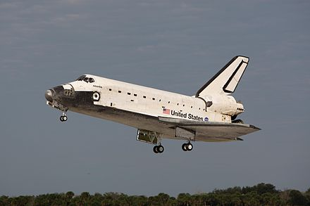 Atlantis landing at KSC after STS-122. Space Shuttle Atlantis landing at KSC following STS-122.jpg