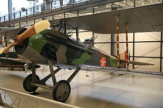 Billy Mitchell - The French-built SPAD XVI which Mitchell piloted in the war, now exhibited inside the National Air and Space Museum in Washington, D. C. The SPAD XVI, an observation and bomber aircraft, has a Lewis twin machine gun mounted in the rear cockpit.