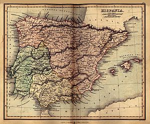 Oiasso - Oeaso near the left extreme of Gallia in this old map or Roman Hispania.