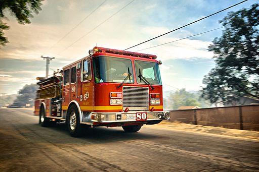 Speeding-fire-truck