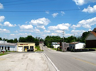 Spencer, Tennessee - State Route 30 in Spencer