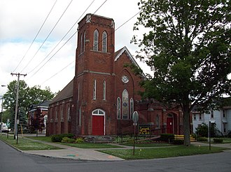 National Register of Historic Places listings in Erie County, New York - Image: Springville Baptist Jun 09