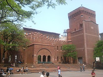 Squadron A Armory - Eastern (interior) side of facade