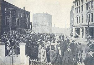 Chelsea, Massachusetts - Chelsea Square after Great Fire of 1908