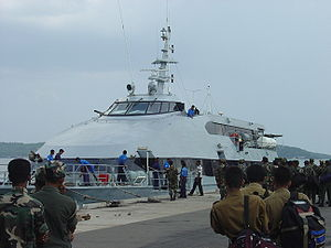 Trincomalee Harbour - Naval ship at Trincomalee