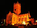 St Mary, Ilminster at night.jpg