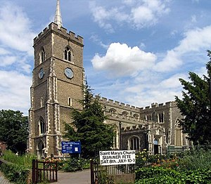 St Mary's Church, Ware - Image: St Mary, Ware, Herts geograph.org.uk 367983