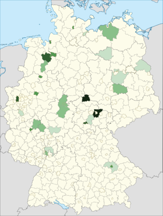 Bulgarians in Germany - Distribution of Bulgarian citizens in Germany (2014).
