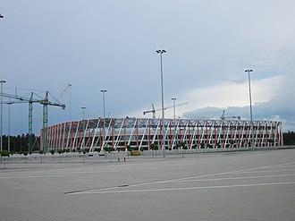 2013–14 Ekstraklasa - Image: Stadion Miejski w Białymstoku budowa (2014) 9