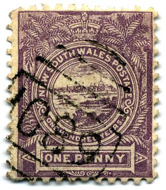 Commemorative stamp - New South Wales first commemorative stamp, 1888