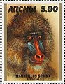 Stamp of Abkhazia - 2000 - Colnect 1004758 - Mandrillus sphinx.jpeg