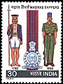 Stamp of India - 1980 - Colnect 361609 - Bicentenary Madras Sappers.jpeg