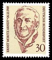 Sondermarke der Deutschen Bundespost (1969) mit einem Porträt Arndts (Quelle: Wikimedia)