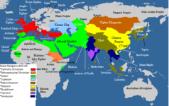 State Religions of the Old World in the year of 820 CE, does not account for minorities.