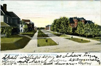University of North Carolina at Greensboro - North Carolina State Normal and Industrial School, ca. 1906.