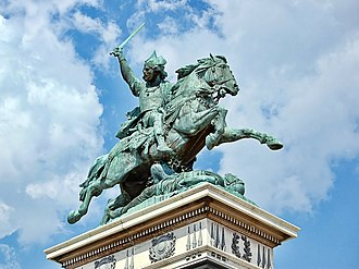 Vercingetorix - Vercingetorix statue by Frédéric Bartholdi, on Place de Jaude, in Clermont-Ferrand, France