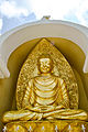 Statue of Buddha in Japanese Peace Pagoda,Darjeeling.jpg