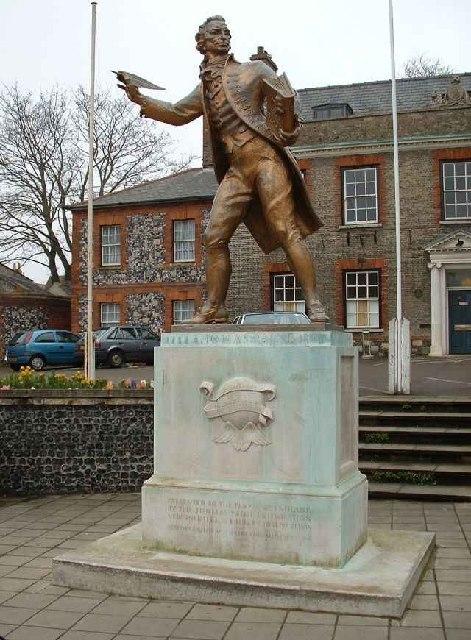 Statue of Thomas Paine, Thetford, Norfolk