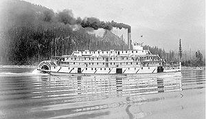 Bonnington (sternwheeler) - Image: Steamer Bonnington (1911 Canadian sternwheeler)