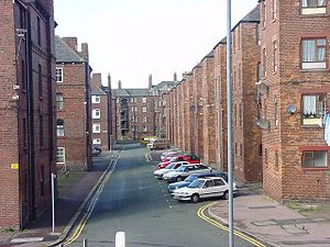 Borough of Barrow-in-Furness - The densely residential Barrow Island