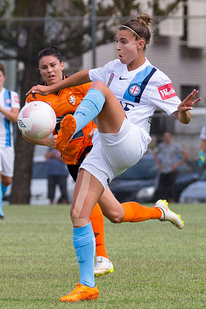 Steph Catley - Catley playing for Melbourne City in 2015