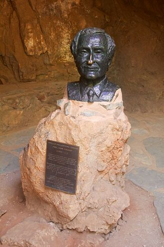Phillip V. Tobias - Bust of Tobias at the Sterkfontein caves