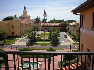 Stetson University College of Law - Stetson Law's campus from the library