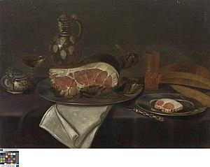 Stilleven met ham