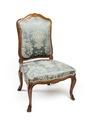 Stol, del av möbeluppsats, 1700-tal - Hallwylska museet - 109808.tif