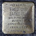 Stolperstein Badstr 58 (Gesbr) Friederike Barkowsky.jpg
