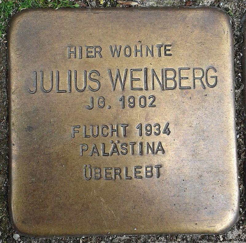 Stolperstein Emmerich Gasthausstraße 3 Julius Weinberg