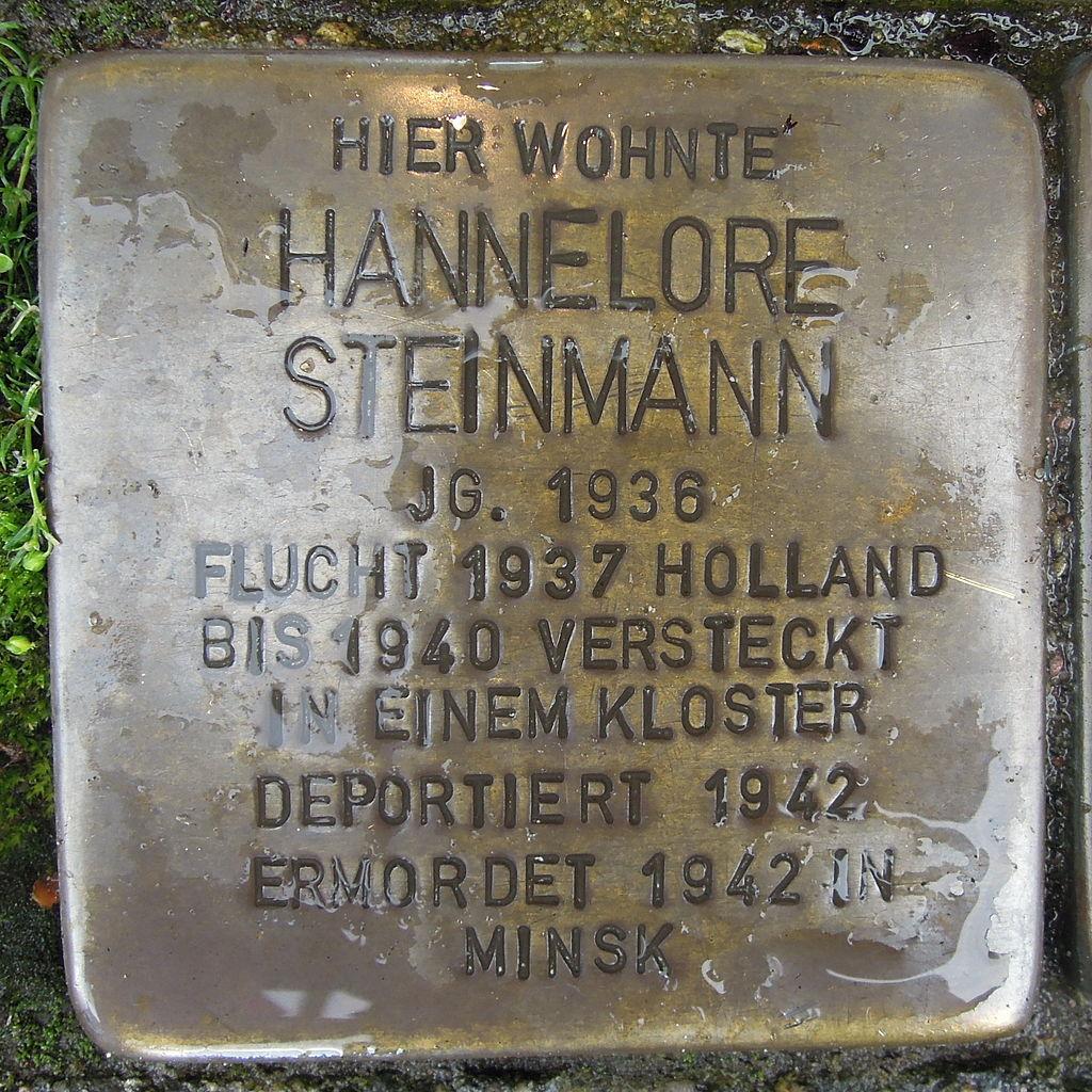Stolperstein Steinfurt Markt 1 Hannelore Steinmann.jpg