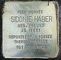 Stolperstein Stierstr 4 (Friedn) Sidonie Haber.jpg