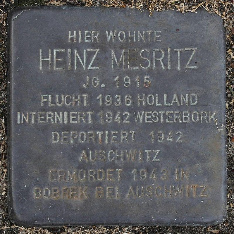 Stolperstein Wendeburg Am Betonwerk 2 Heinz Mesritz.jpg