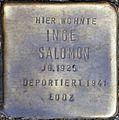 Stolpersteine Köln, Inge Salomon (Dasselstraße 37).jpg