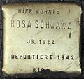 Stolpersteine Köln, Rosa Schwarz (Aachener Straße 28).jpg