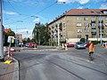 Strašnice, křižovatka V korytech - Průběžná - Ke Strašnické, rekonstrukce TT.jpg