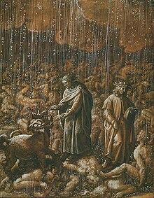 Stradusov Prikaz Treeg Kruga Pakla Vergilije Objanjava Kerberu Da Je Dante U Paklu Prema Bojem Nalogu A Ne Njegovoj Vlastitoj Volji Ili Elji