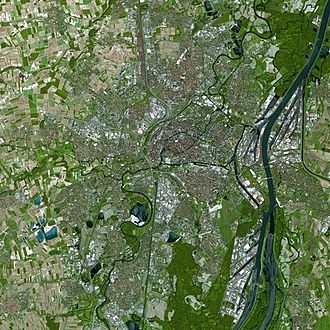 Strasbourg - Strasbourg seen from Spot Satellite