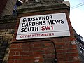 Street Sign 'Grosvenor Gardens Mews South' - geograph.org.uk - 1194335.jpg
