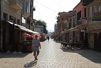 Struga - Old boulevard of Struga