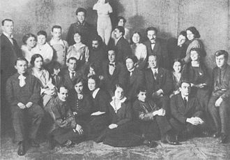 Acting - Members of the First Studio, with whom Stanislavski began to develop his 'system' of actor training, which forms the basis for most professional training in the West.
