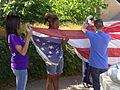 Students Fold American Flag at End of School Day - Outside Central High School - Little Rock - Arkansas - USA - 01.jpg