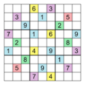 Sudoku Puzzle (a puzzle with total symmetry).png