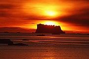 Sunset Icebergs in Arctic