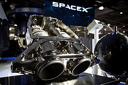 SuperDraco rocket engines at SpaceX Hawthorne facility (16789102495).jpg