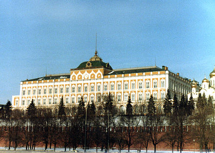 The Grand Kremlin Palace, seat of the Supreme Soviet of the Soviet Union, 1982 Supreme Soviet 1982.jpg