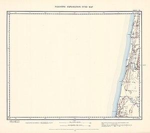 Jisr az-Zarqa - Image: Survey of Western Palestine 1880.07