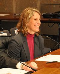 Sylvia Mathews Burwell at April 2013 Senate nomination hearing.jpg
