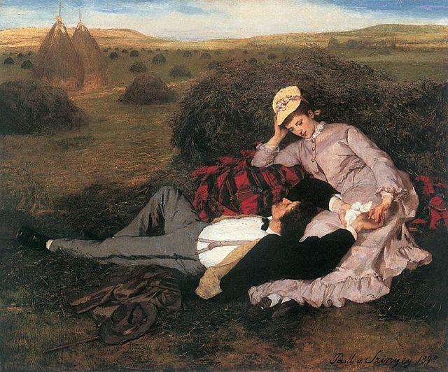 Szinyei Merse, Pál - Lovers (1869)
